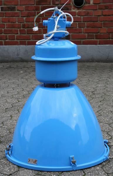 original Industrielampe blau