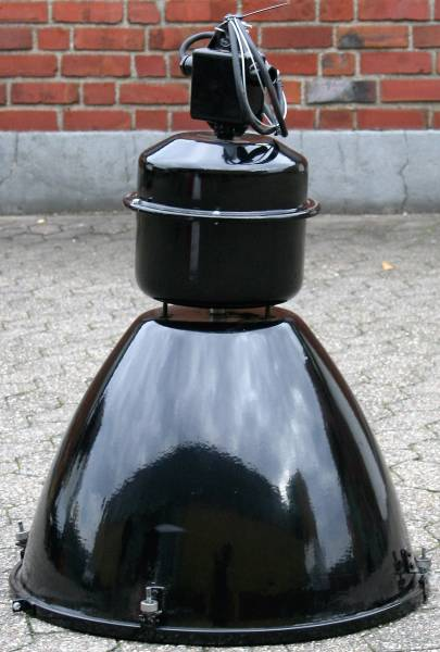 original Industrielampe schwarz