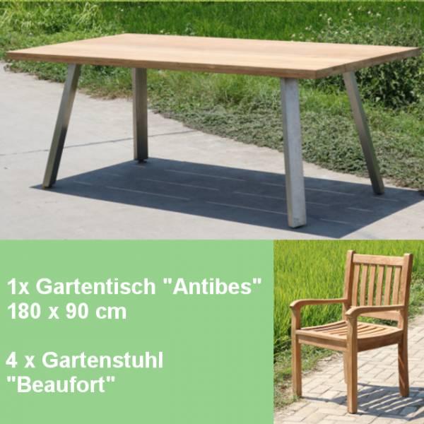 5-teiliges Teakholz Gartenmoebel Set Marette Gartenmöbelsets für den Sommer