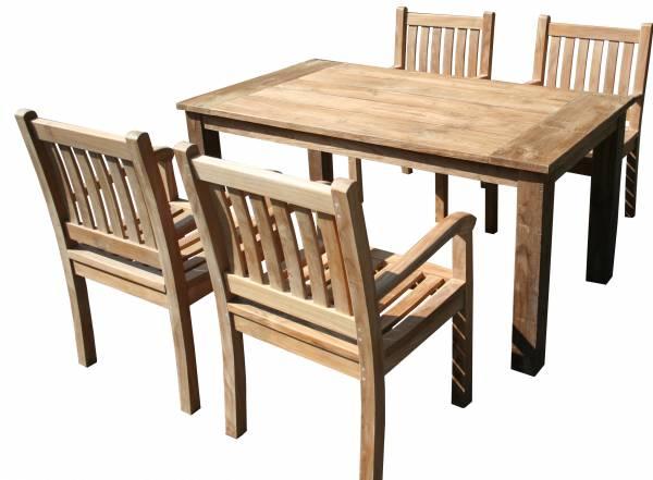 5-teiliges-teakholz-gartenmoebel-set-goehren-tisch-160cm-und-4-x-stuhl-beaufort