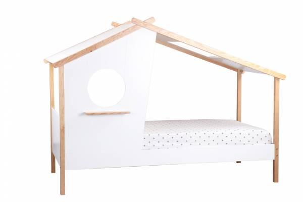 Kinderbett Haus weiß