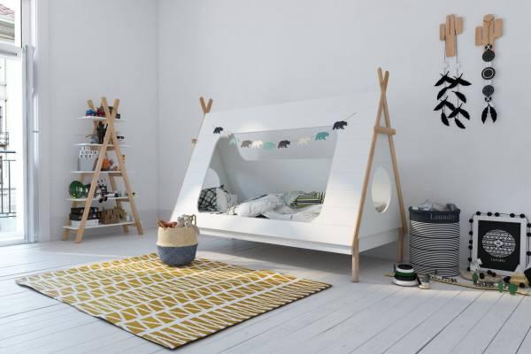 Kinderbett Zelt weiß