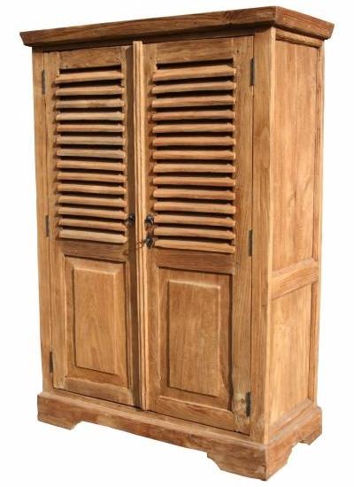 vertiko-schrank-calais-mit-lamellentueren-teakholz-massivholz-teakmoebel Lamellenschraenke aus Holz
