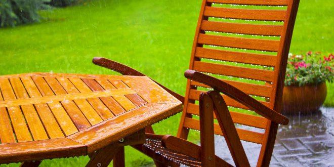 Gartentisch mit Gartenstuhl - Wetterfeste Gartenmöbel