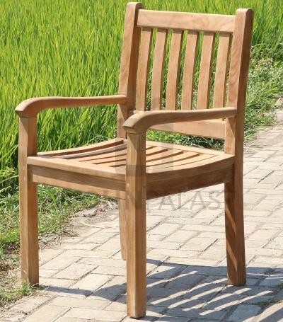 Teak Stuhl Beaufort - Gartenstuhl 2er Set