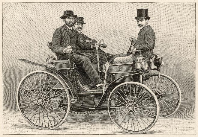 Das Automobil ist ebenfalls eine Entwicklung Ende des 19. Jahrhunderts