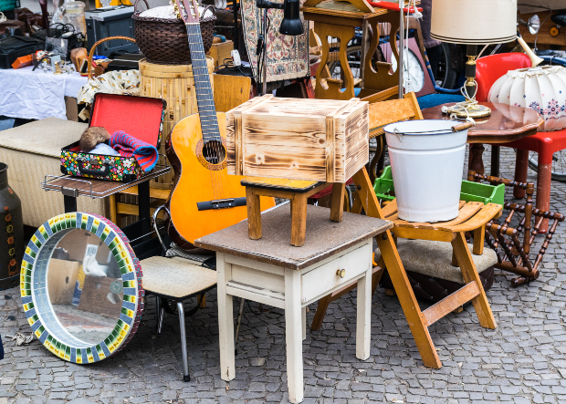 Flohmarkt-Stand