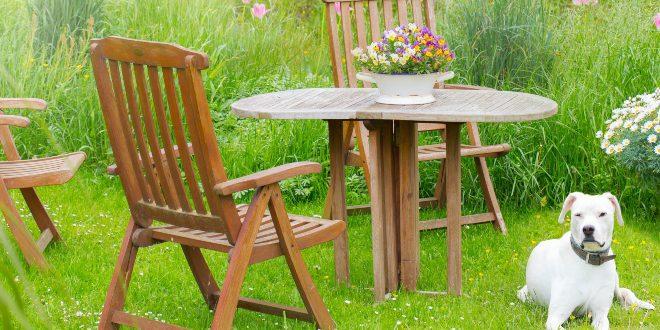 Gartenmöbel Sitzgruppe - Schrebergarten gestalten