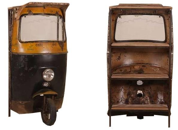 Vintage Tuktuk Hausbar - Downcycling, Upcycling, Recycling