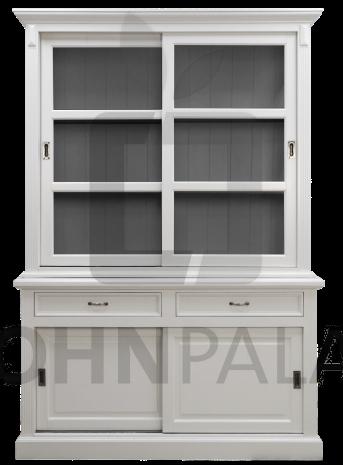 Buffetschrank Venedig - weiß/dunkelgrau 150cm