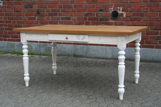 Gründerzeittische Massivholz 160/260 cm - erweiterbar -