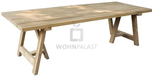 Gartentisch Frejus Teakholz massiv Outdoor Gartenmöbel Teak Tisch Massivholz Platte 5cm