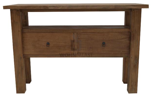 Wandtisch Makkasar aus recyceltem Teakholz