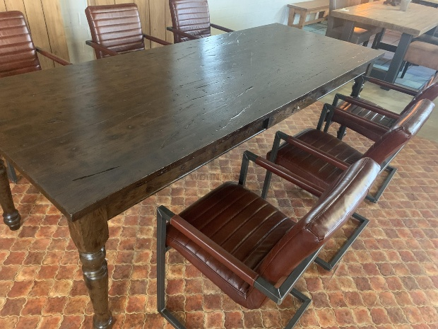 Esstisch Eiche 260cm - Massivholz Tische mit Schublade
