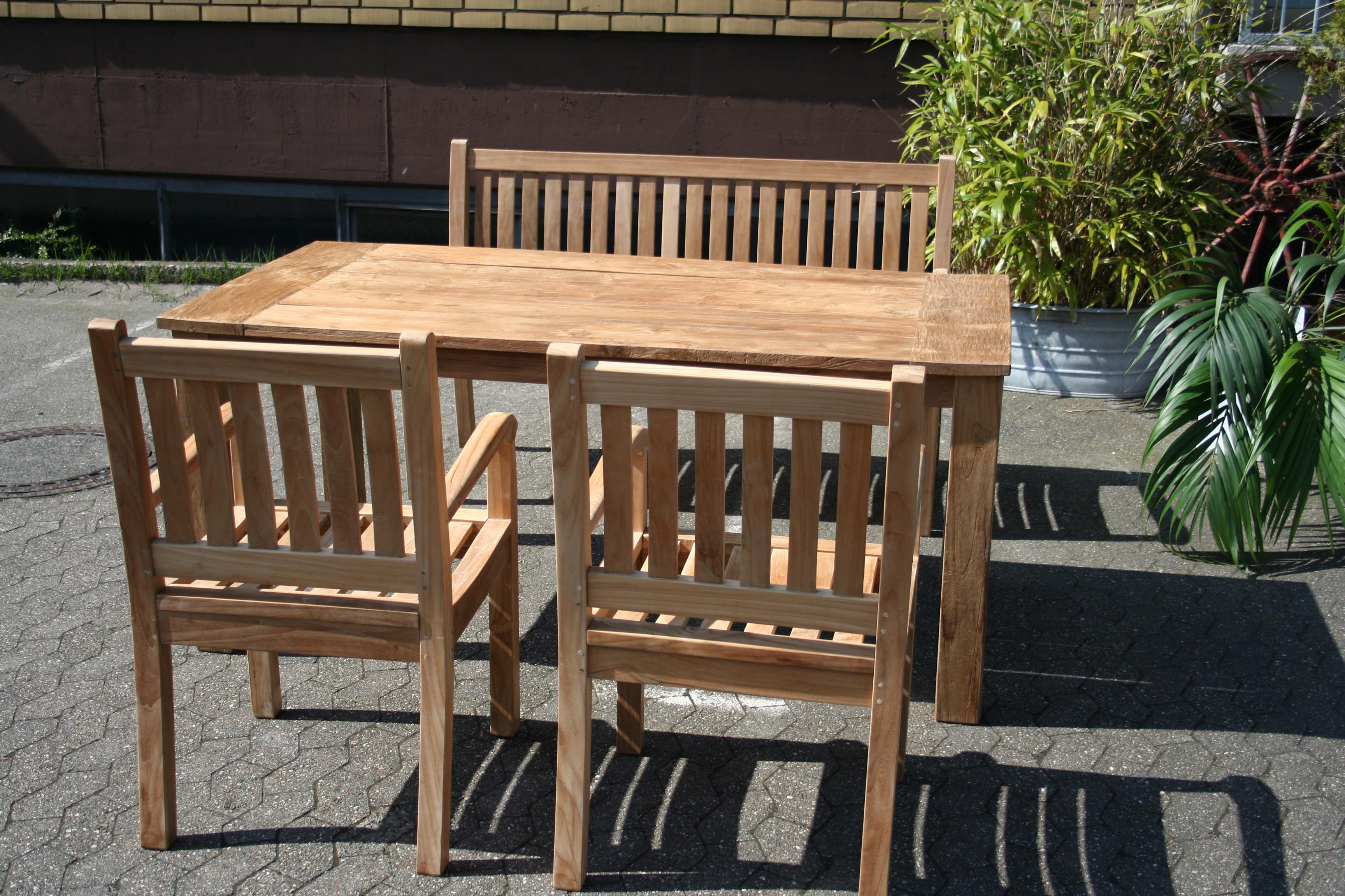 Teak Tisch gartentisch Esstisch Teakholz Teakmöbel Teakmoebel Garten Loungemöbel Outdoor Möbel ...