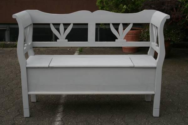 truhe bank grau shabby chic vintage. Black Bedroom Furniture Sets. Home Design Ideas