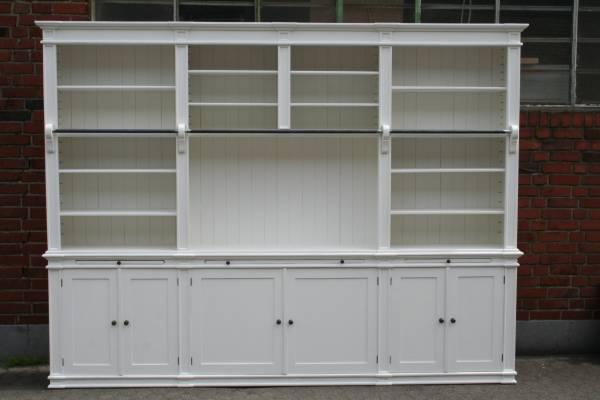 Bücherwand weiß im Landhaus Stil