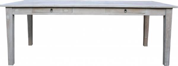 esstisch aus teakholz 220 cm wei gekalkt. Black Bedroom Furniture Sets. Home Design Ideas