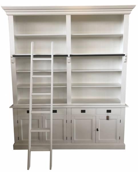 Bücherschrank mit Schubladen weiß im Landhaus Stil
