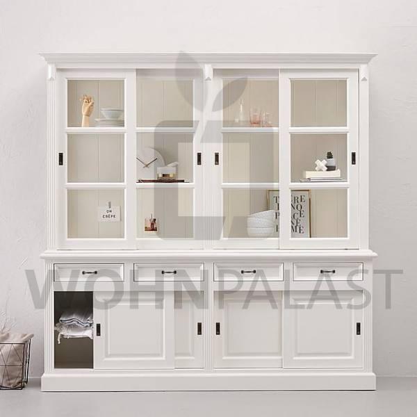 Ladenschrank Vincenza im Landhausstil 220 cm - weiß