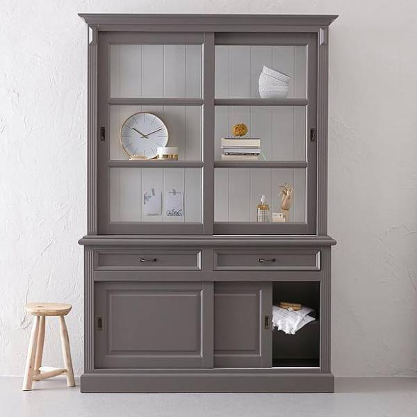 buffet schrank landhaus massivholz vitrine vitrinenschrank klassiche landhaus m bel schrank. Black Bedroom Furniture Sets. Home Design Ideas