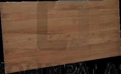 Tischplatte Lurus massiv Kasar (gebürstetes Teakholz) 6 cm dick