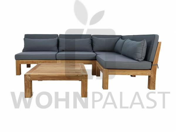Gartenmöbel Lounge Set Palma 5-teilig Teakmöbel Outdoor Möbel Set Teakholz