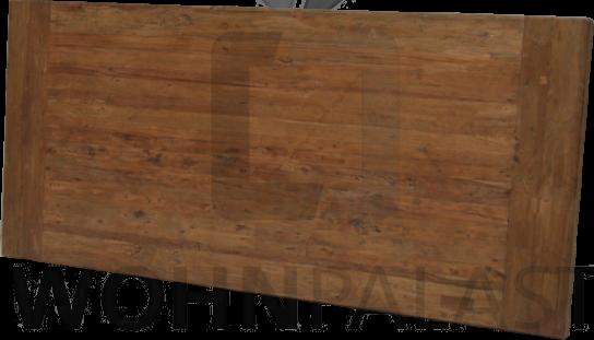 Tischplatte Kopfregel massiv Dengkleh (recyceltes Teakholz) 5 cm dick