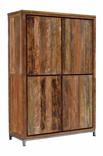 Regal Schrank Schubladen Teak Masiiv Vintage Holz Massivholz