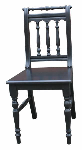 Stuhl Massivholz schwarz