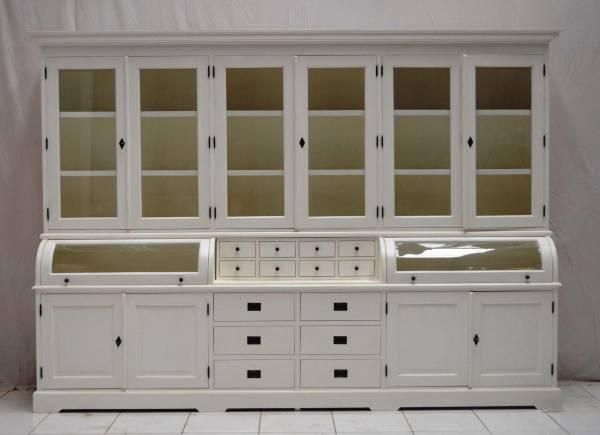 Buffet Schrank Landhaus Weiß 300 Cm Mivholz Teak