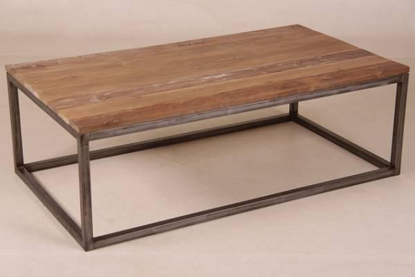 Teak Salon Tisch Tomia Eisen