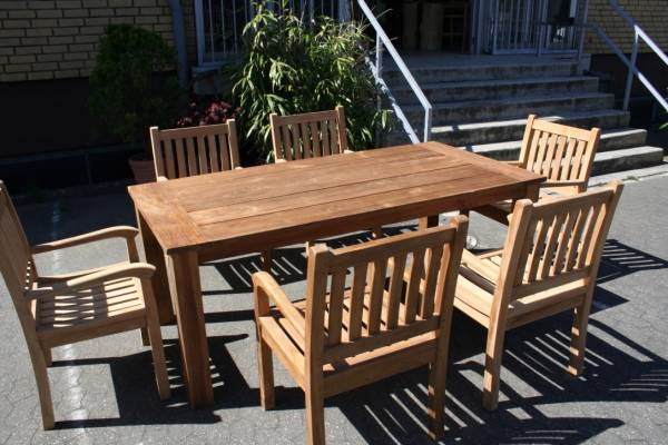 Garten Teak Set Stuhl Massiv Beaufort Kasar
