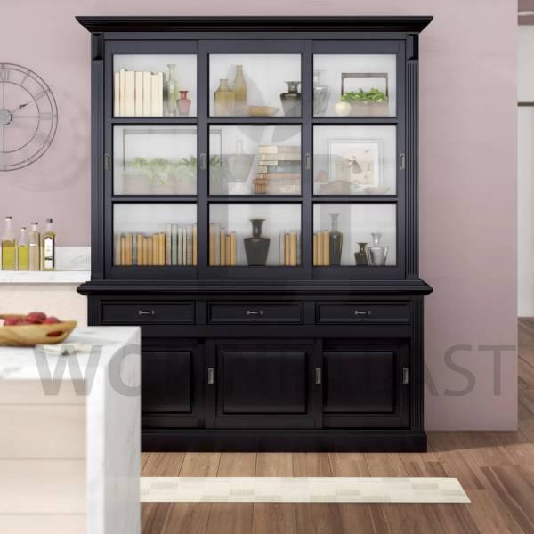 Ladenschrank Vincenza schwarz 180cm