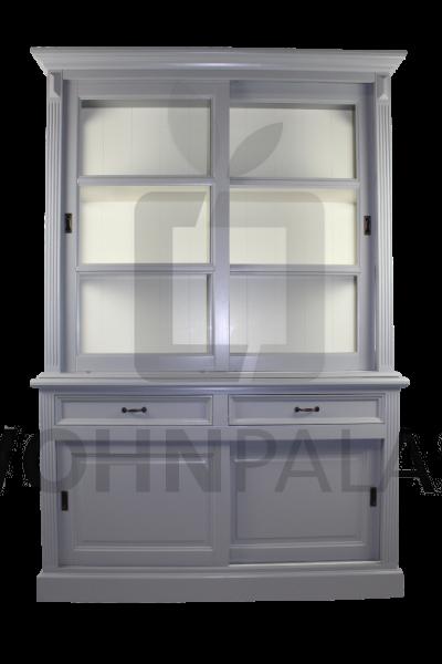 Buffetschrank Vincenza im Landhausstil - grau-weiß 150cm