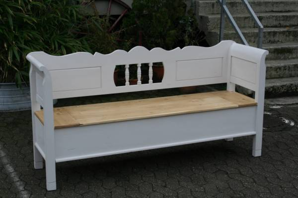 truhenbank weichholz shabby chic 183 cm. Black Bedroom Furniture Sets. Home Design Ideas