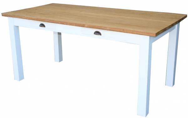 Teak Tisch 180 cm mit Schubalden - Massivholz Tisch