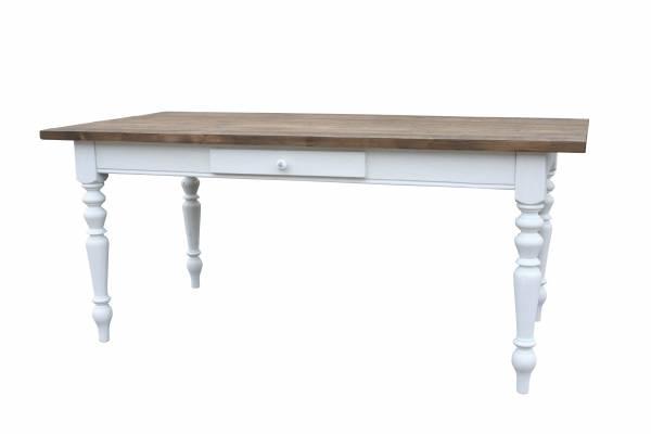 Gr nderzeit tisch massivholz dunkel gebeizt wei for Tisch dunkel