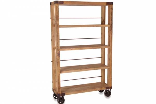 b cherregal industrie style industrial bookcase regal regale massivholz regal. Black Bedroom Furniture Sets. Home Design Ideas