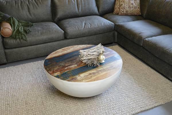 Couchtisch Bowl in weiss