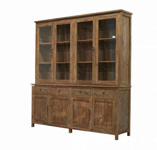 teakholz vitrinen schrank 4 t rig. Black Bedroom Furniture Sets. Home Design Ideas