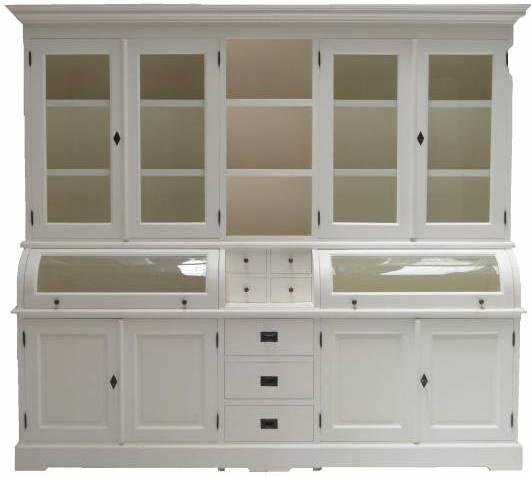 Buffet Schrank Landhaus weiß 230 cm - Massivholz