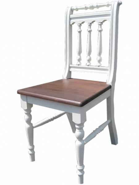 Stuhl Massivholz zweifarbig