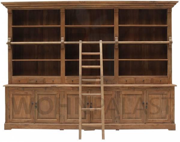 Bücherschrank Teak 320 cm