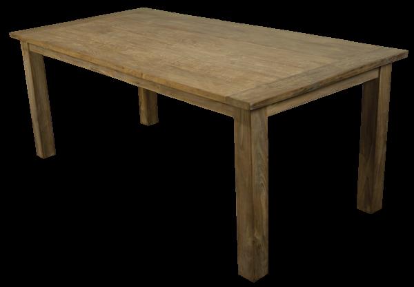 Teak Tisch Vintage Massivholz - erweiterbar