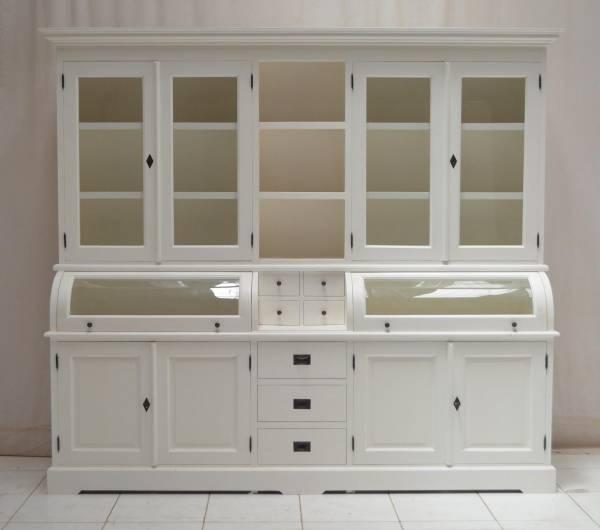 buffet schrank landhaus wei 230 cm massivholz. Black Bedroom Furniture Sets. Home Design Ideas