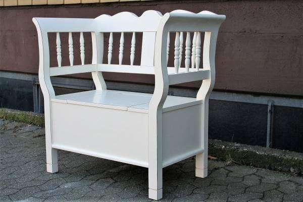 spindel truhe bank antik weichholz creme. Black Bedroom Furniture Sets. Home Design Ideas
