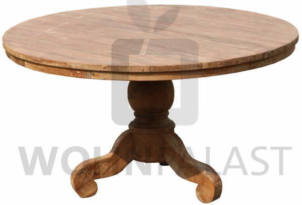 Tisch Java rund aus recyceltem Teakholz - verschiedene Varianten