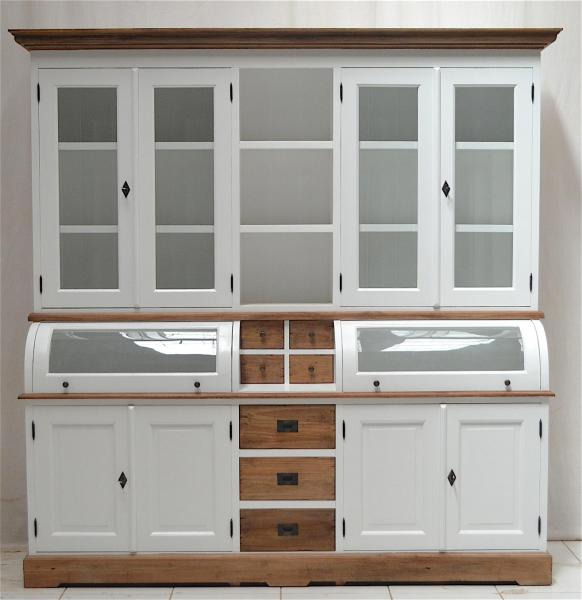 buffetschrank landhaus vintage teak 200 cm massivholz. Black Bedroom Furniture Sets. Home Design Ideas