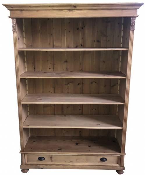Bücherregal antikbraun im Landhausstil Massivholz